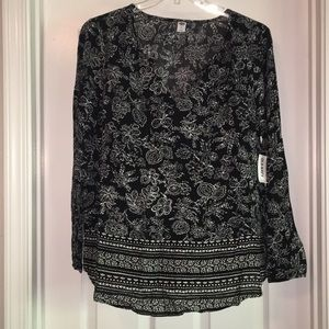 NWT Old Navy XL black and white print Tunic